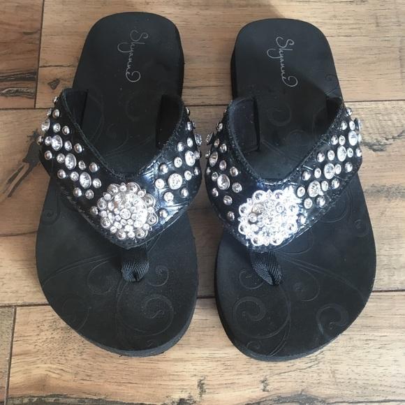 Blingy Concho Flip Flops